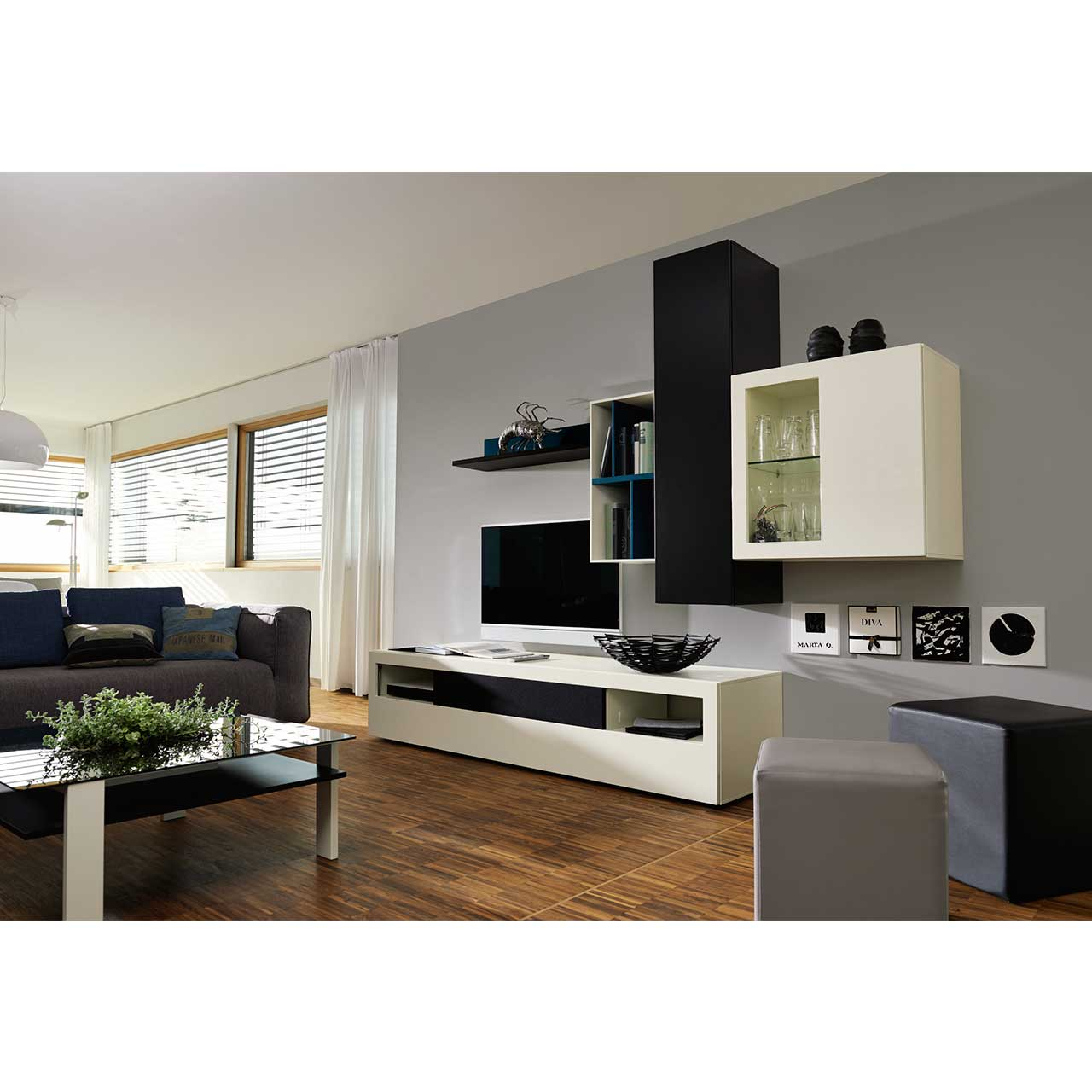 now vision by h lsta wohnwand now shop. Black Bedroom Furniture Sets. Home Design Ideas
