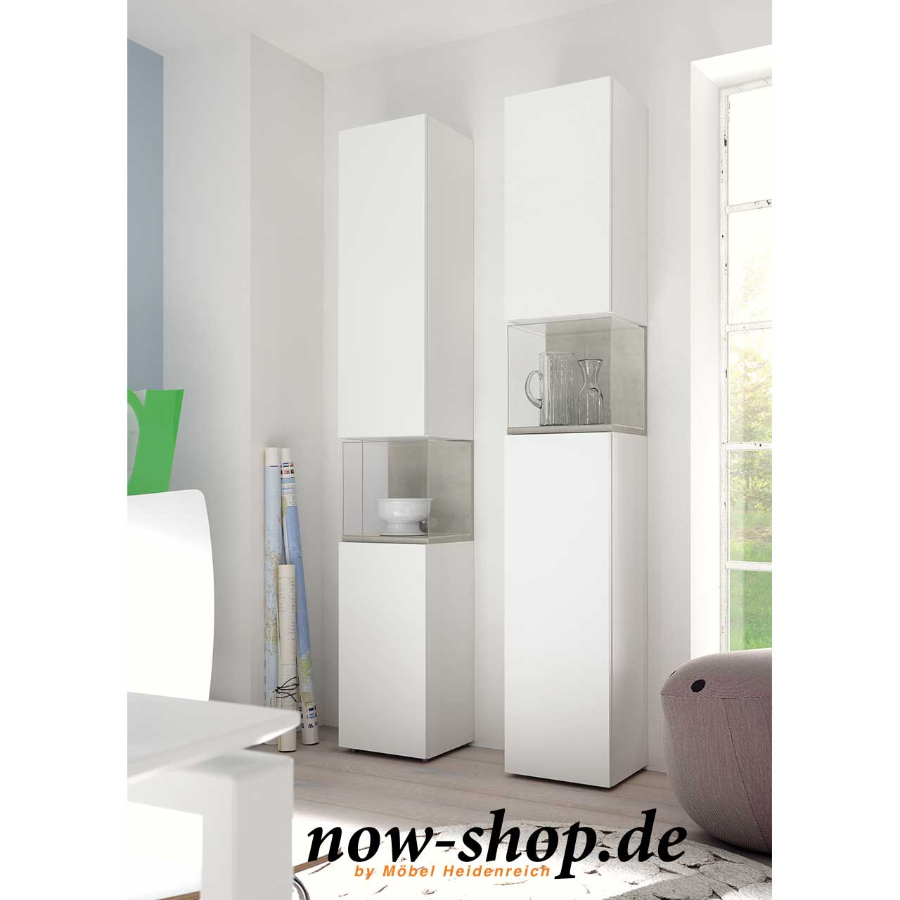 now by h lsta for you vitrinen kombination vitrinen wohnen now shop. Black Bedroom Furniture Sets. Home Design Ideas