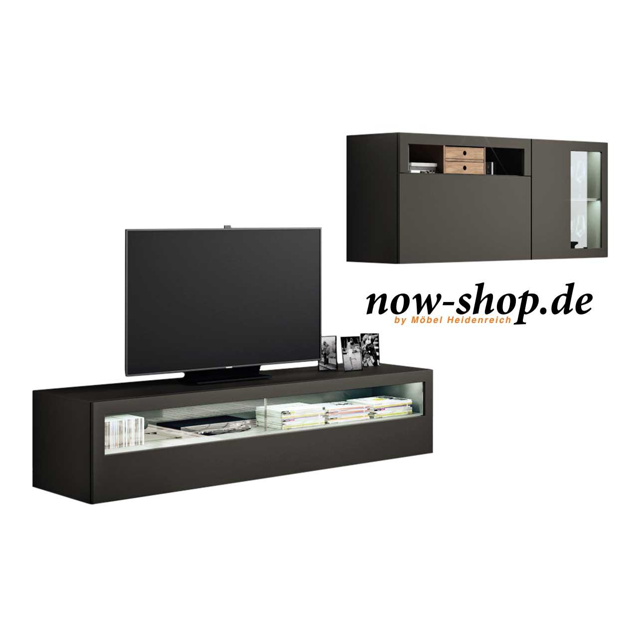 now by h lsta vision wohnwand wohnw nde wohnen now shop. Black Bedroom Furniture Sets. Home Design Ideas