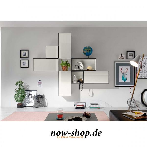 now by h lsta to go 7 boxen set 9 schneewei oder schiefergrau wandelemente wohnen now. Black Bedroom Furniture Sets. Home Design Ideas