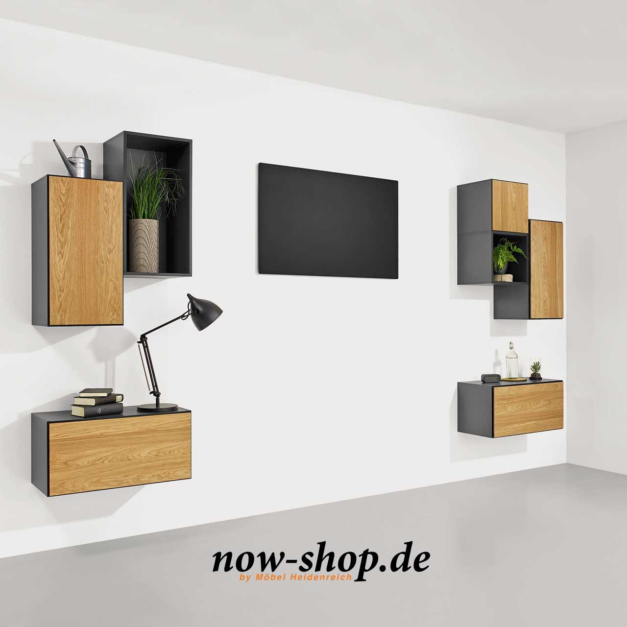 now by h lsta to go 7 boxen set 16 schiefergrau oder schneewei wandelemente wohnen. Black Bedroom Furniture Sets. Home Design Ideas