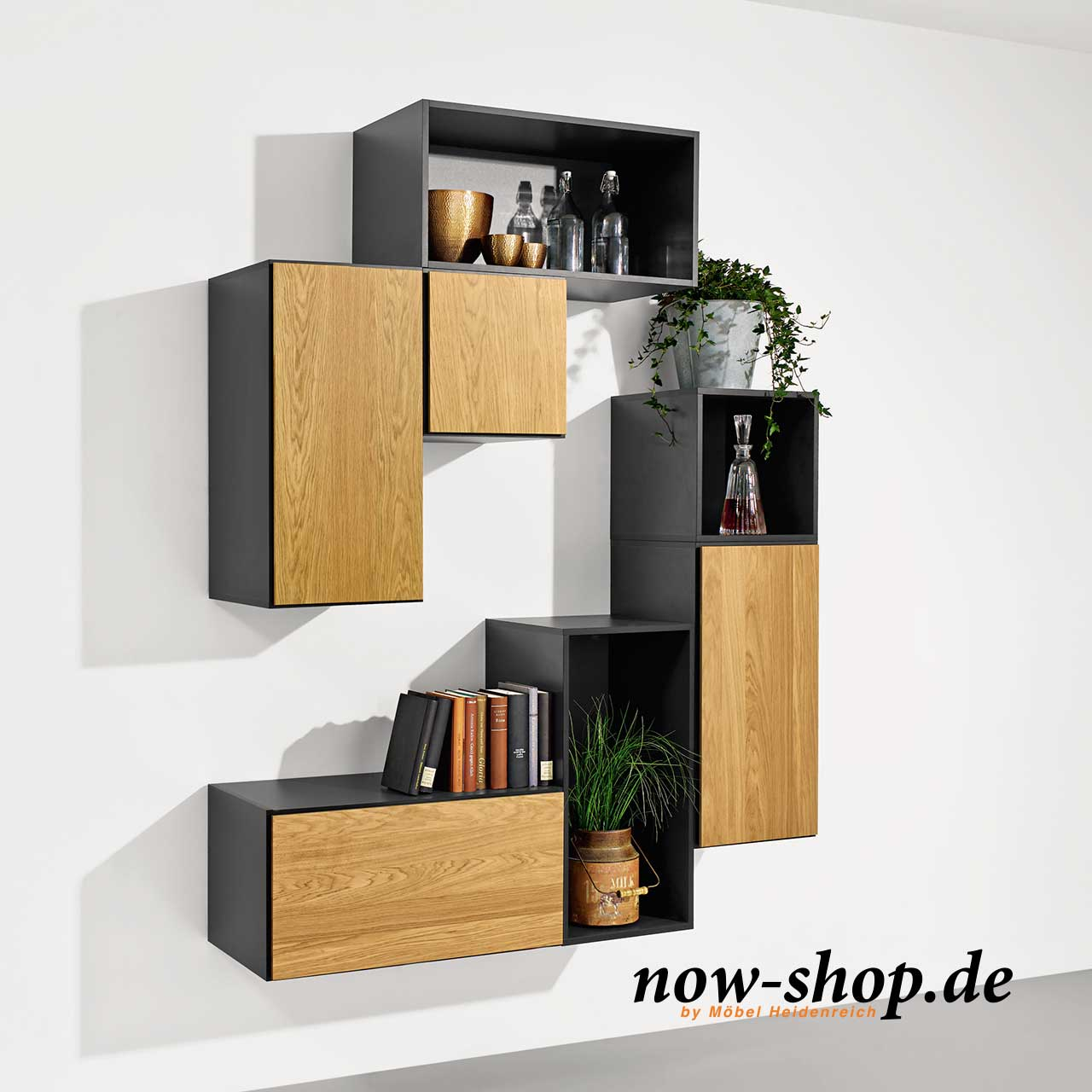 now by h lsta to go 7 boxen set 2 schiefergrau kombinationen now to go produkte now. Black Bedroom Furniture Sets. Home Design Ideas