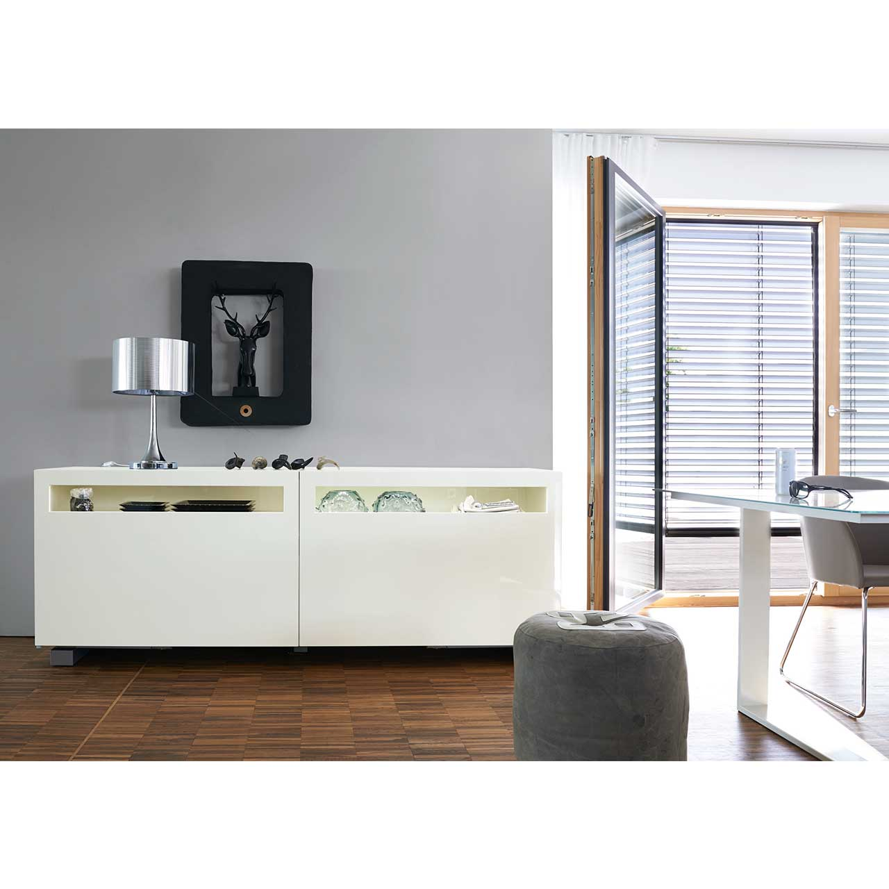 now by h lsta vision sideboard 4r hochglanz wei sideboards wohnen now shop. Black Bedroom Furniture Sets. Home Design Ideas