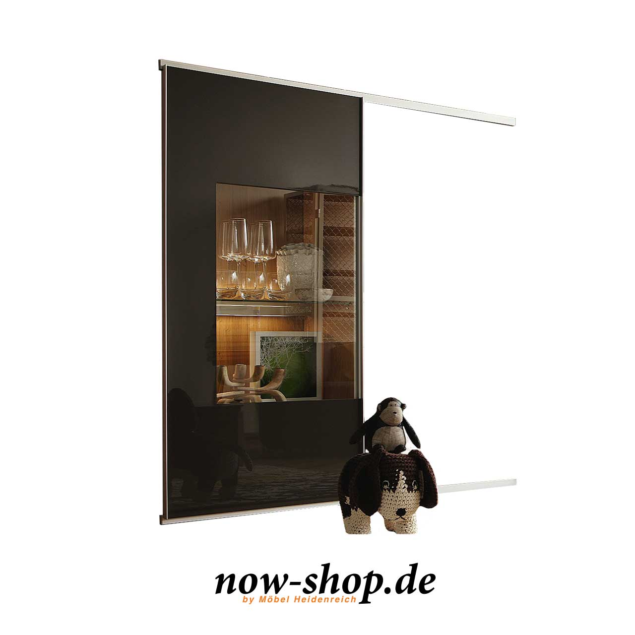 now by h lsta time schiebet ren mit klarglasausschnitt regalsystem now time produkte. Black Bedroom Furniture Sets. Home Design Ideas