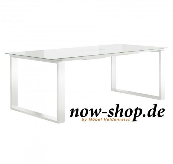 Hülsta esstisch glas weiss  now dining esstisch et19   now-shop