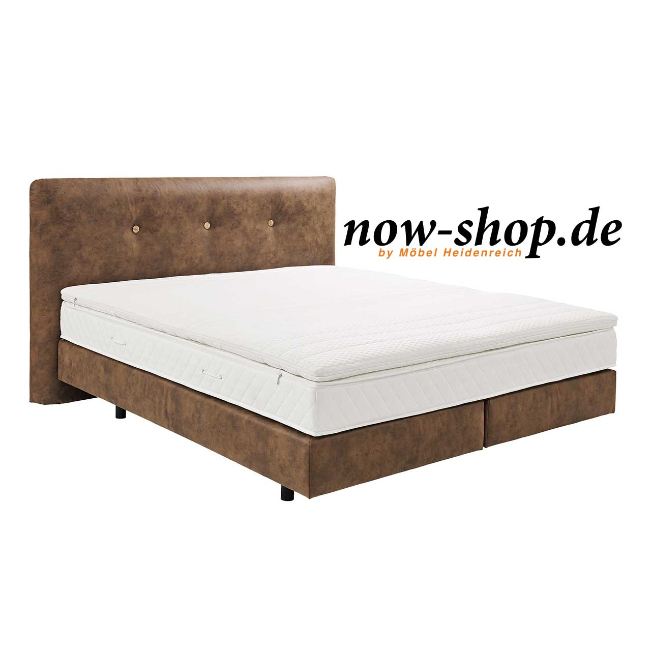now by h lsta boxspring bett kastanienbraun. Black Bedroom Furniture Sets. Home Design Ideas