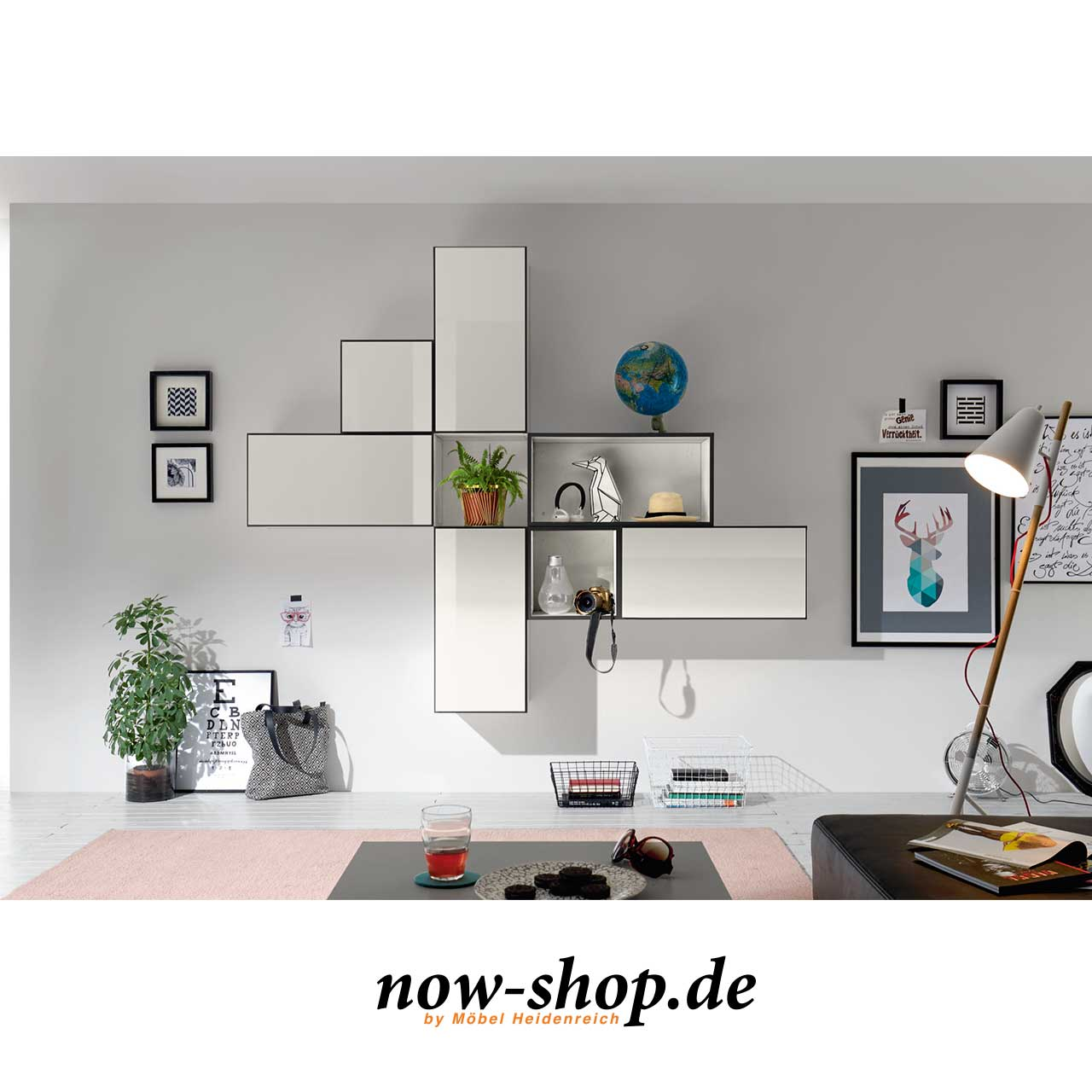 now by h lsta to go 7 boxen set 9 schneewei oder schiefergrau wandelemente wohnen now. Black Bedroom Furniture Sets. Home Design Ideas