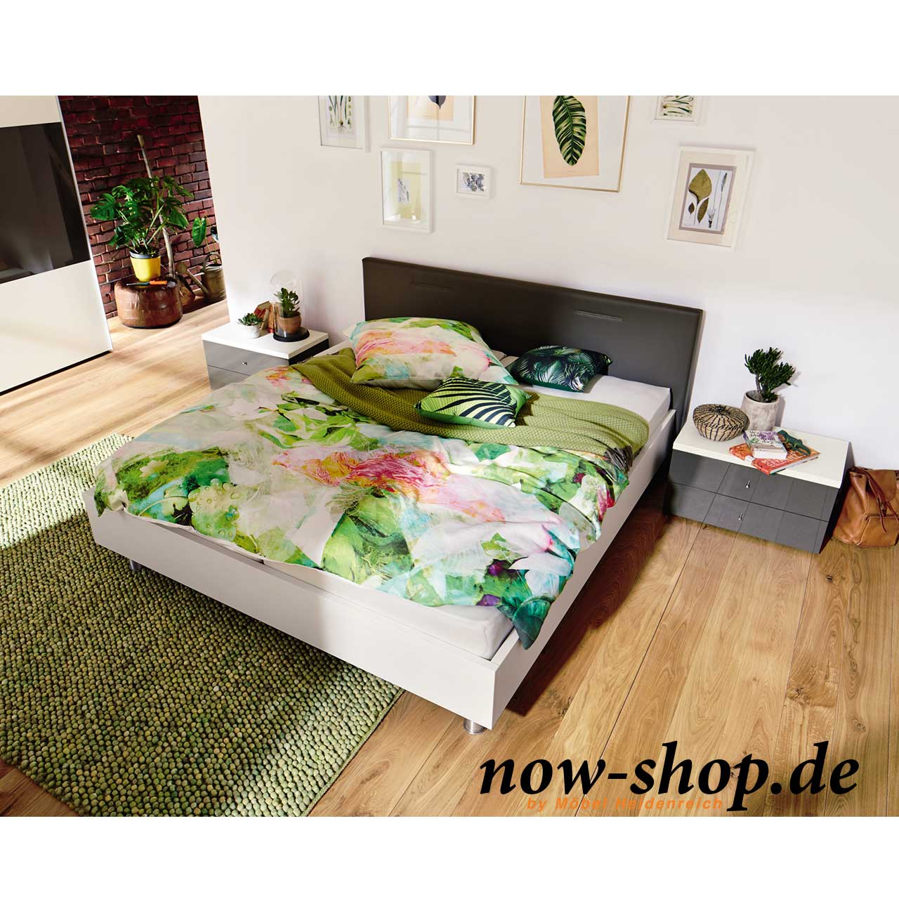now by h lsta sleeping bett mit kunstlederkopfteil betten schlafzimmer now shop. Black Bedroom Furniture Sets. Home Design Ideas
