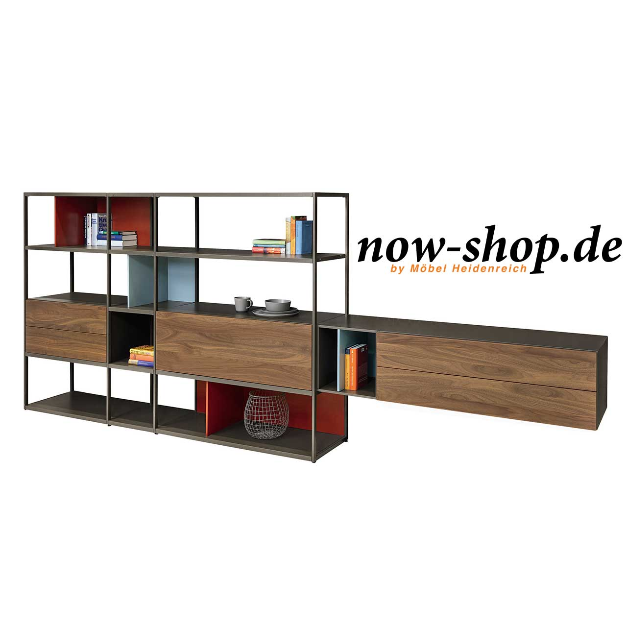 now by h lsta vision wohnwand regale wohnen now shop. Black Bedroom Furniture Sets. Home Design Ideas
