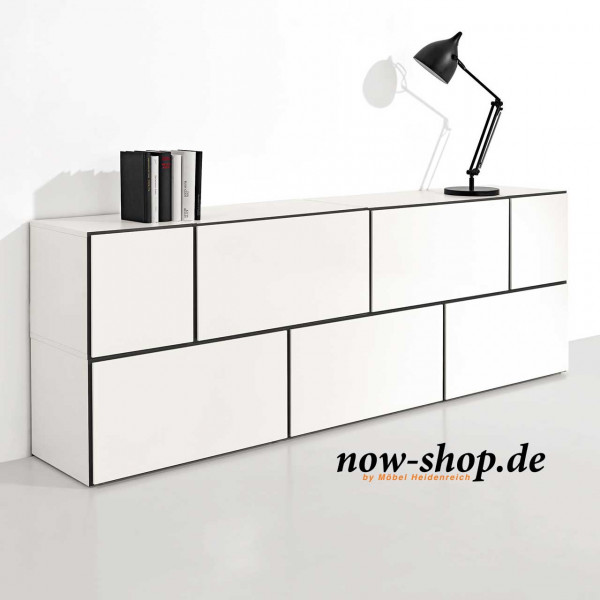 now by h lsta to go 7 boxen set 5 schneewei sideboards wohnen now shop. Black Bedroom Furniture Sets. Home Design Ideas