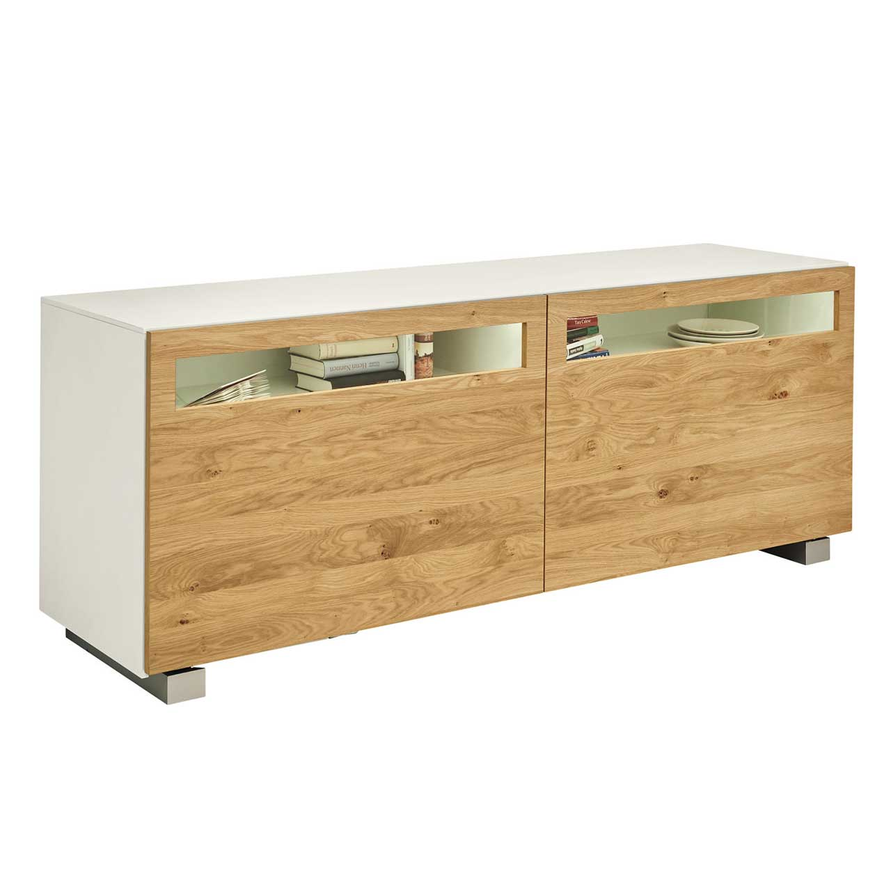 now by h lsta vision sideboard natureiche now shop. Black Bedroom Furniture Sets. Home Design Ideas