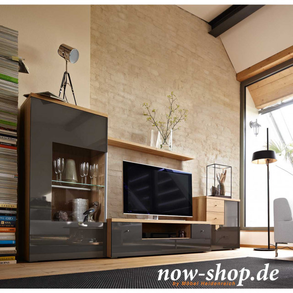 now by h lsta time wohnwand vorzugskombination wohnw nde wohnen now shop. Black Bedroom Furniture Sets. Home Design Ideas