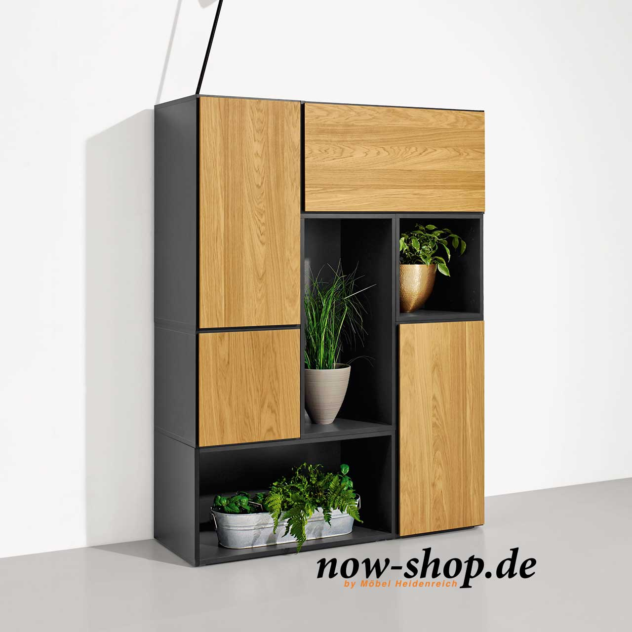 now by h lsta to go 7 boxen set 1 schiefergrau wohnen now shop. Black Bedroom Furniture Sets. Home Design Ideas