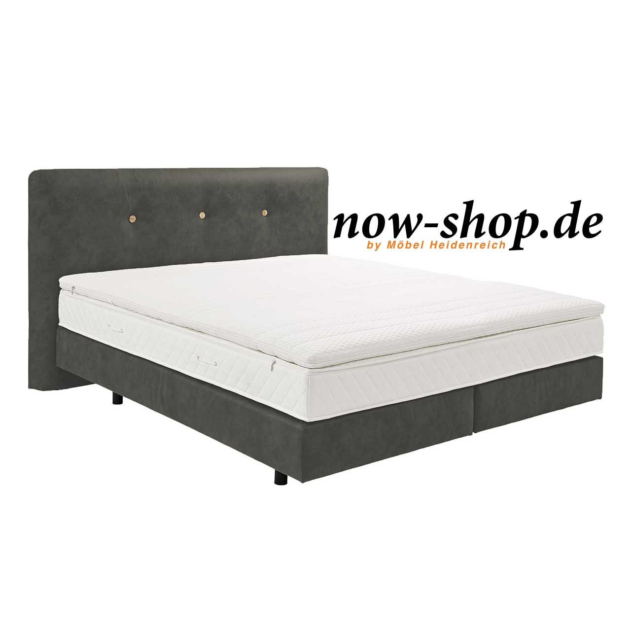 now by h lsta boxspring bett schiefergrau betten. Black Bedroom Furniture Sets. Home Design Ideas